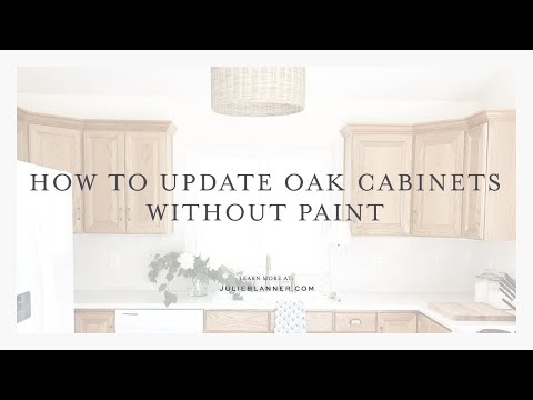 How To Transform Oak Cabinets - Without Painting Them