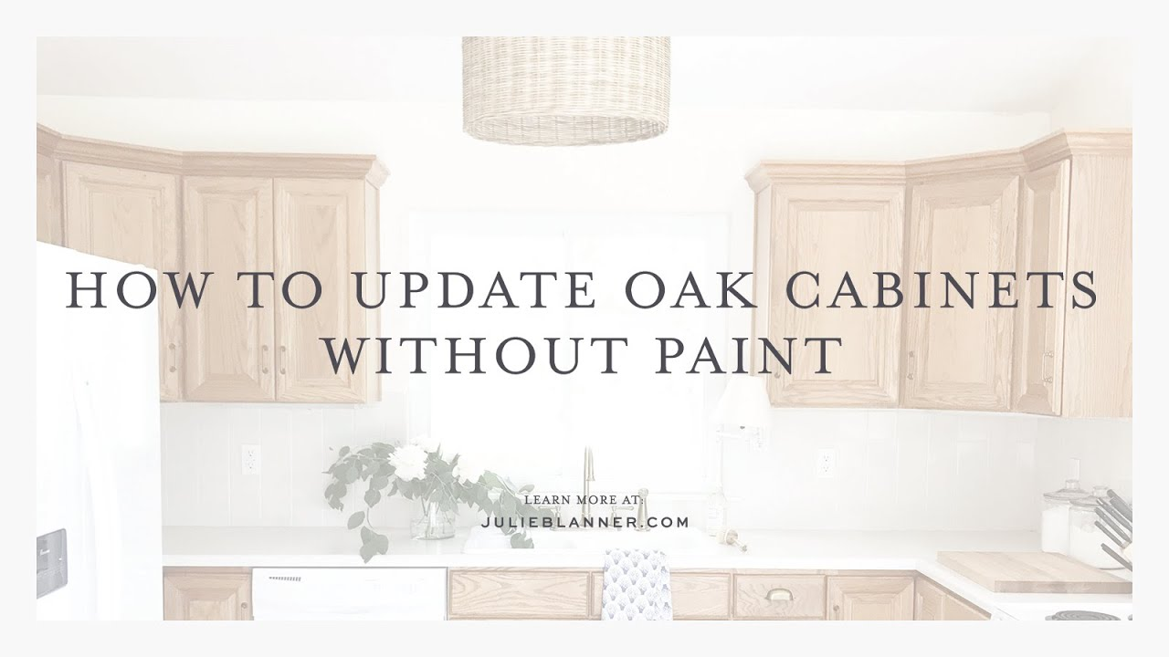 How To Transform Oak Cabinets Without Painting Them Youtube