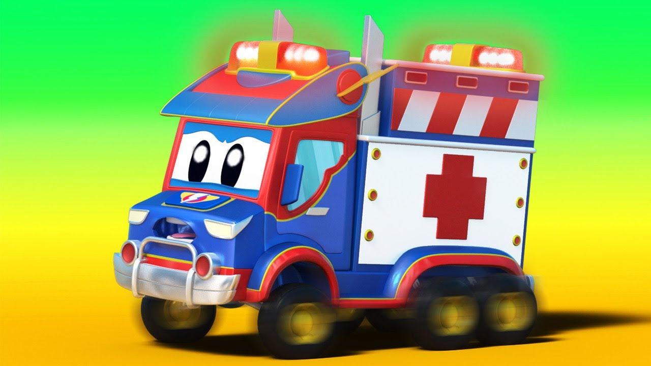 Hắt hơi: Cố lên xe cắm trại, Siêu xe cứu thương đang đến! – Thành phố xe hơi – Hoạt hình thiếu nhi