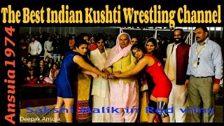 Baba Ramdev Dangal   Navjot kaur in red wins