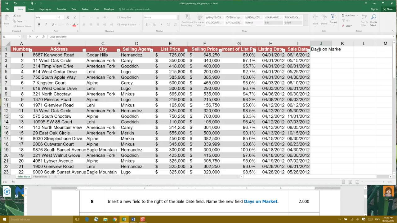 excel bible 2016 exercises