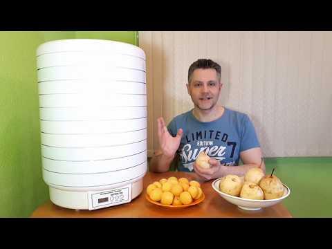 Сушка груш и абрикосов в сушилке Волтера 1000 люкс
