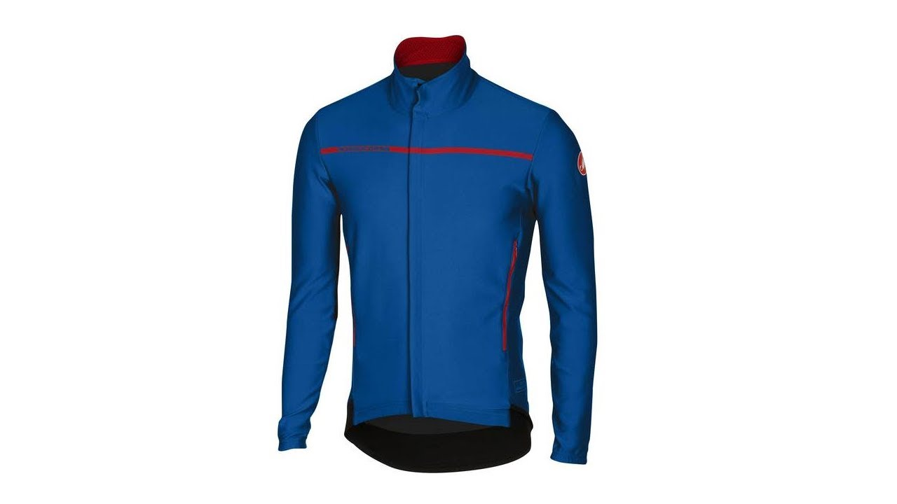 Castelli Cycling Perfetto ROS Long Sleeve Jacket Drive Blue Size Large