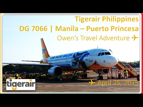 TIGER AIRWAYS PHILIPPINES OR CEBGO DG 7066 MANILA TO PUERTO PRINCESA ON AIRBUS A320