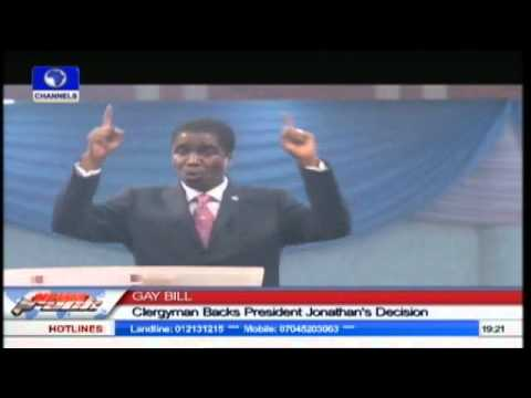 Clergyman Commends Jonathan On Gay Rights Act
