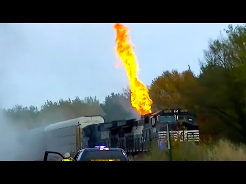 Thumbnail: Norfolk Southern Train on Fire