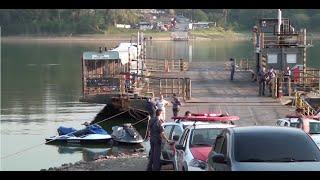 Homem morre após colidir contra cabo da balsa no Riacho Grande