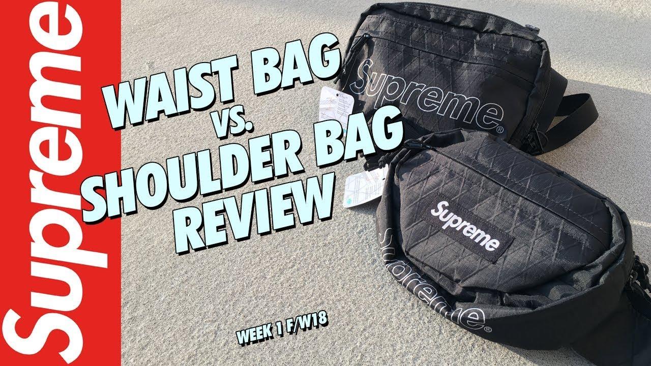 SUPREME WAIST BAG V  SHOULDER BAG REVIEW WK 1 FW18! - YouTube