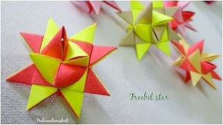 Origami froebel star | DIY paper star | Christmas craft
