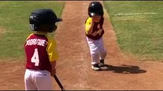 Baseball kid moment of glory