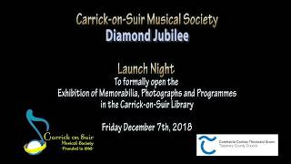 Carrick-on-Suir Musical Society Library Launch Night 2018
