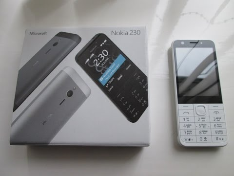 Nokia 230 Dual Sim Mobile Phone Cell Phone Review, New Microsoft Nokia 2016, (Selfie Phone).