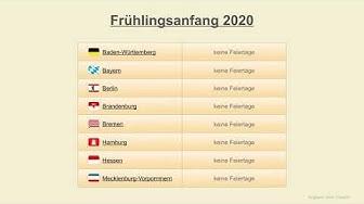 Frühlingsanfang 2020 - Datum - Festtage Deutschland 2020
