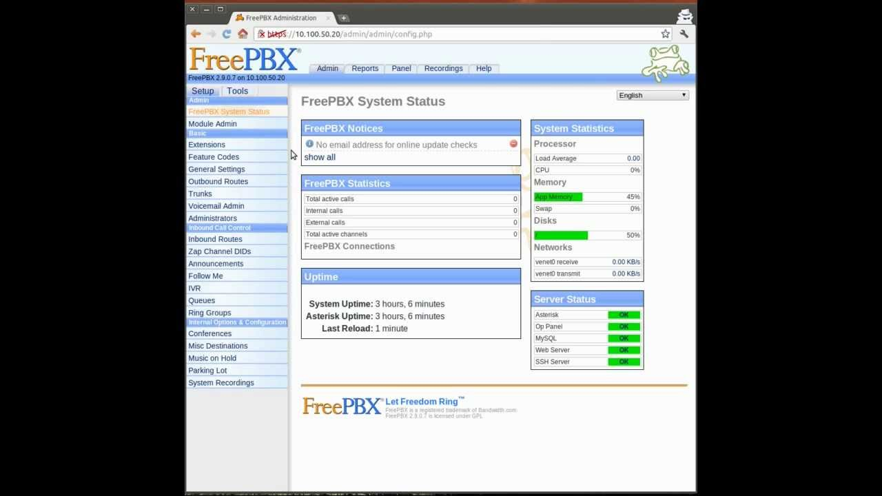 Creating an Extension in FreePBX