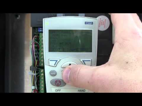 VFD troubleshoot NHA tutorial ABB ACH550 ACS550 Variable Frequency Drive  Resetting & Fault Log wmv