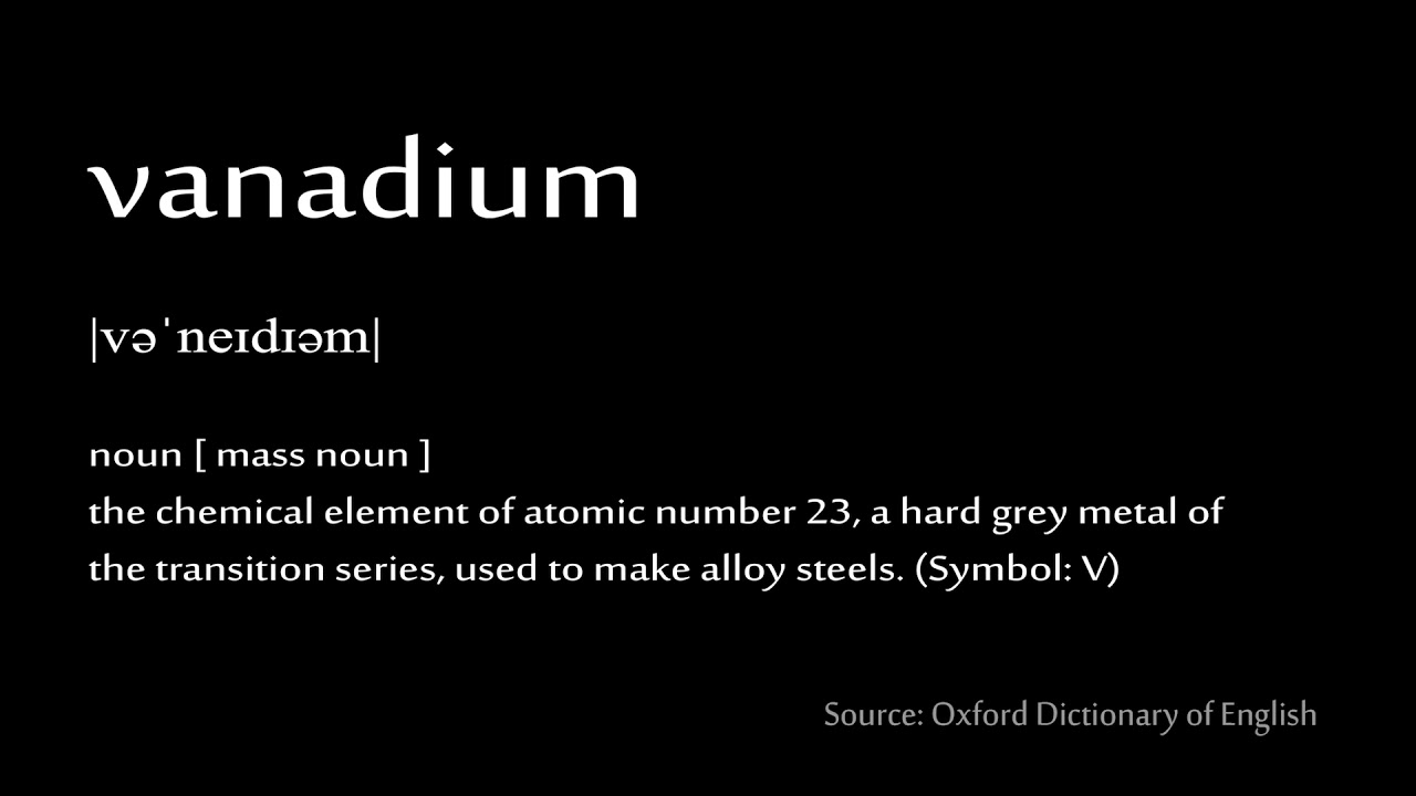 6 vanadium - How to pronounce chemical elements (periodic table)