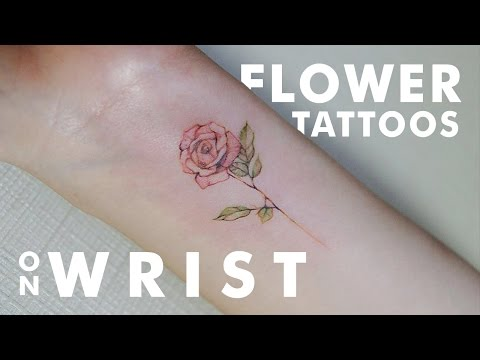 Beautiful Flower Tattoos On Wrist