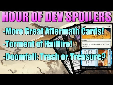Mtg: Hour of Devastation Spoilers - Doomfall, Farm//Market, Torment cycle, and MORE!