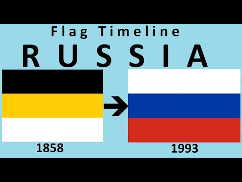 Flag Of Russia : Historical Evolution (with Russian National Anthem)