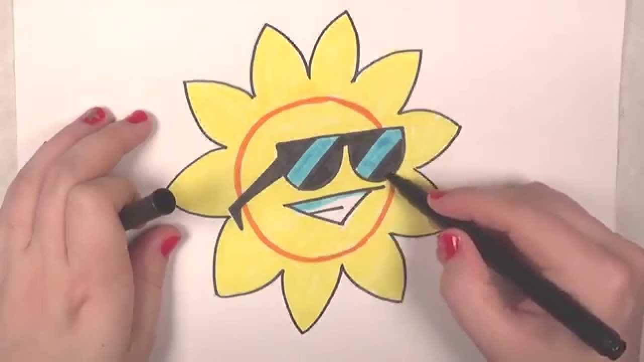 Learn How To Draw A Cool Sun ICanHazDraw