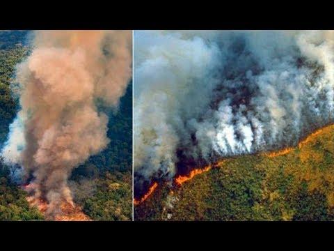 Humo de los incendios forestales en la Amazona llega al Per
