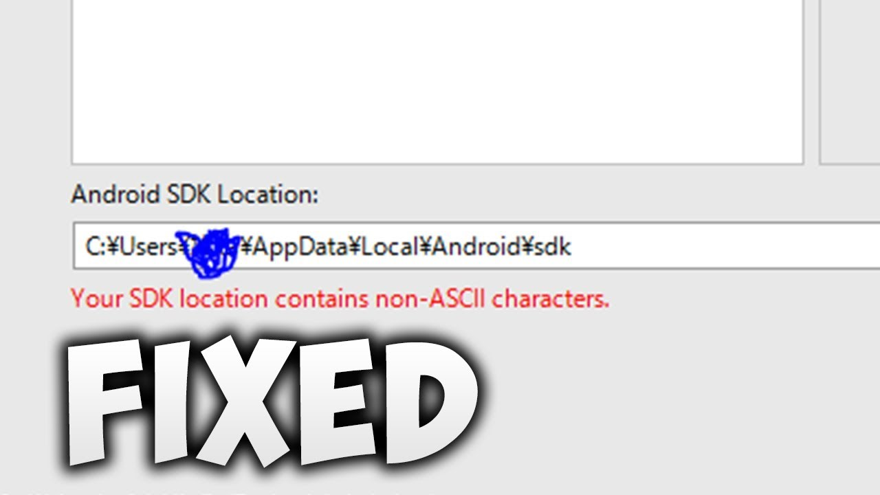 How To Fix Your SDK location contains non ASCII characters | Android Studio