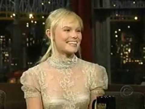 Kate Bosworth on David Letterman Show 2004