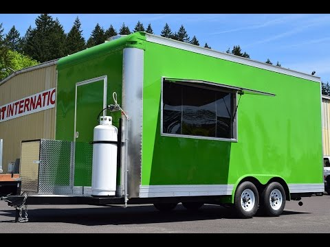 18ft SeaFood Food Trailer Built For California 2017