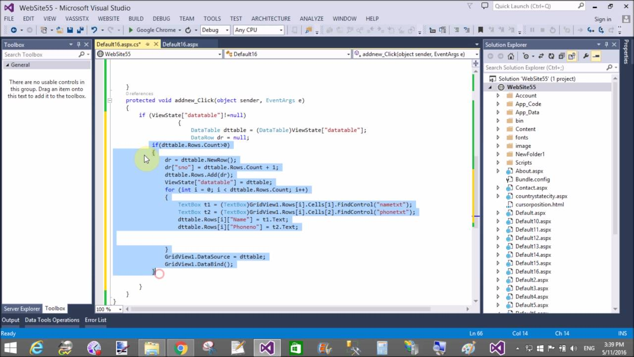 ASP NET C# Dynamically add rows in gridview PART-2