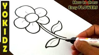 Simple Drawing Pictures Of Flowers