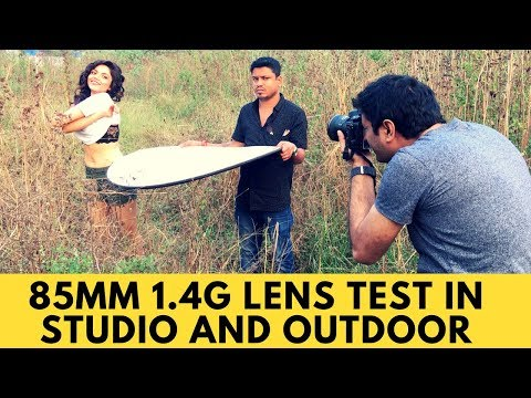 Nikon 85mm 1.4g test in studio and outdoor photography