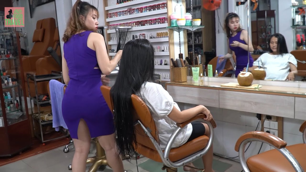 Vietnam Barber Shop Asmr Massage Face & Wash Hair with Girl 2020