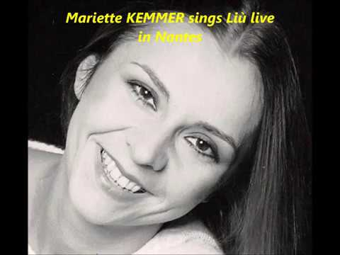 MARIETTE KEMMER sings 'signor ascolta' from Turandot, live in Nancy