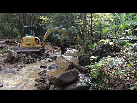 Cherry River Stream Project Improves Trout Habitat (2016)