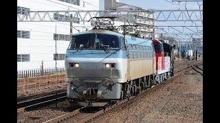 甲種輸送 EF66 105号機+HD300 28号機+ヨ8000形 刈谷駅通過