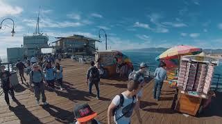 a stroll on santa monica pier