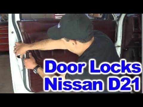 Repairing Broken Door Lock Mechanism On Nissan D21 Hardbody Pick Ups Youtube