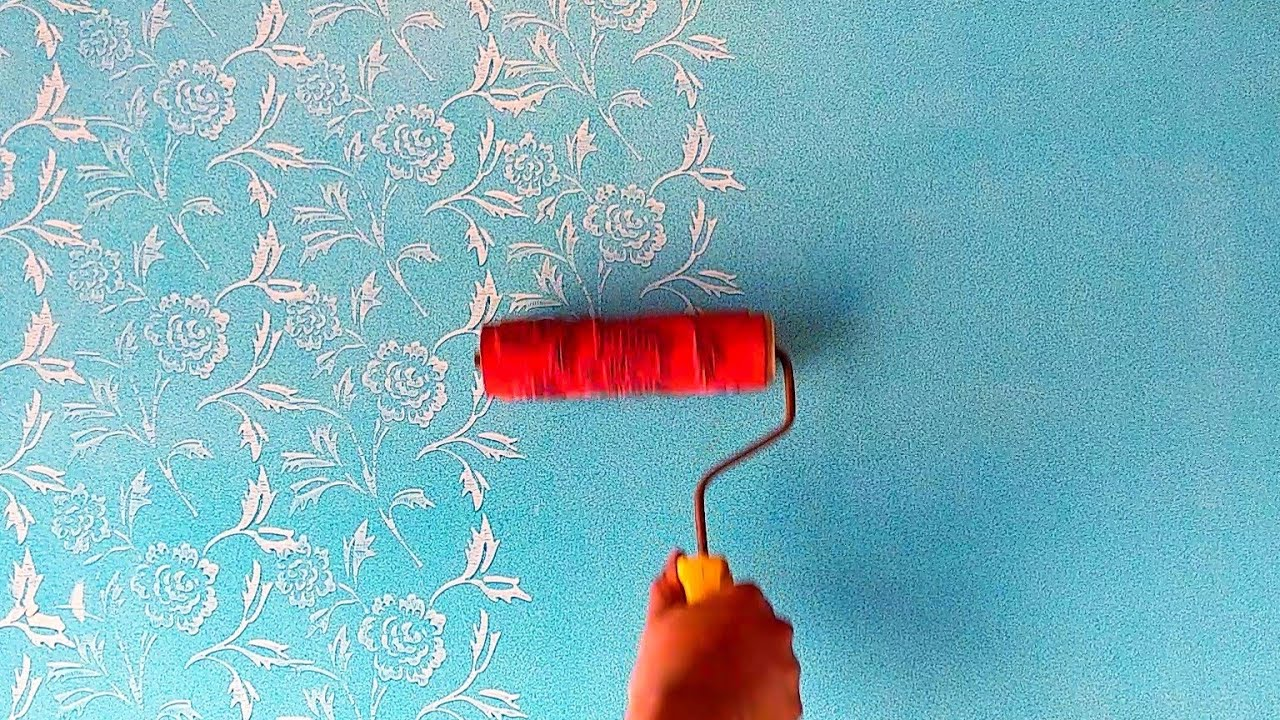 Flower Wall Painting Royale Play Design Intzar Malik