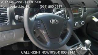 2017 Kia Forte LX 4dr Sedan 6M for sale in Fort Lauderdale,