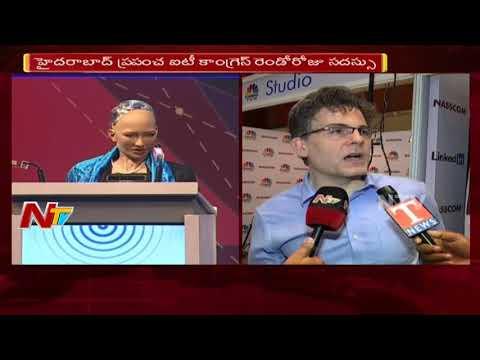 Humanoid Robot Sophia Creator David Hanson Face to Face || Hyderabad  || NTV