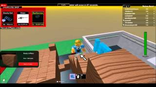 creppy roblox guy with a flying brd