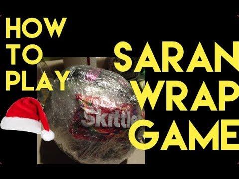 how to play saran wrap game christmas party game ideas saran wrap ball challenge