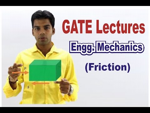 GATE Lectures: Engg Mechanics: Friction