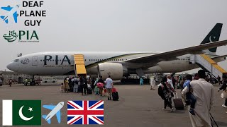 PIA Pakistan international airlines B777-200er Islamabad to Manchester March 2018