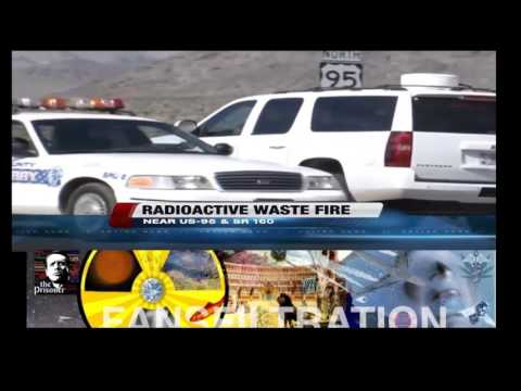 Nevada Radioactive Waste Facility Fire Close to Las Vegas - October 2015