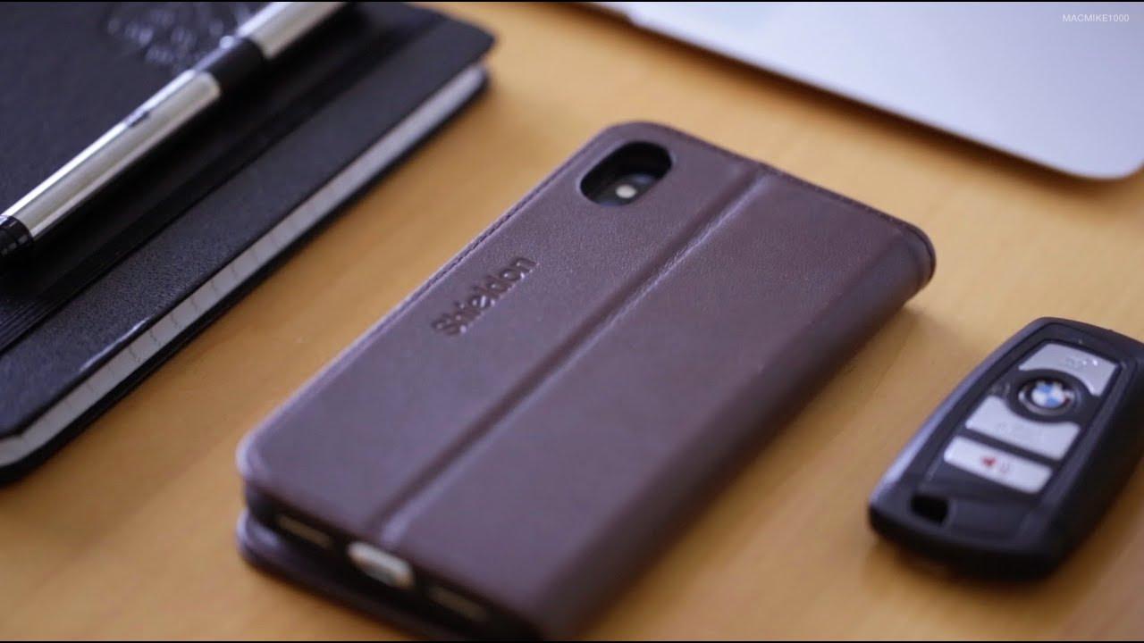 eb7edb16244 Shieldon Leather Wallet Case (iPhone X) - YouTube
