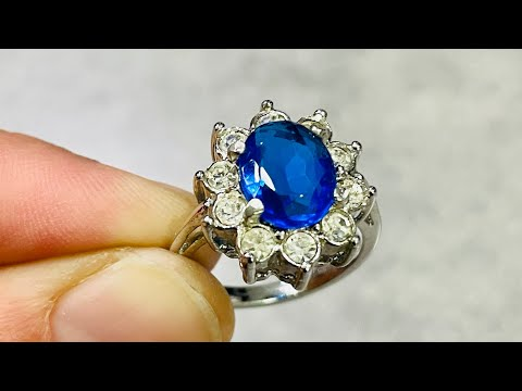 Goodwill mystery bluebox unboxing. Princess Diana ring!