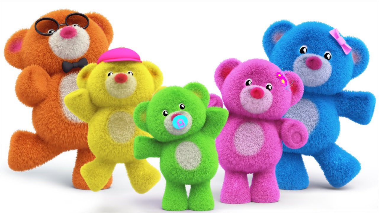 Teddy Bear Finger Family Teddy Bear Turn Around Nursery Rhymes Kids Songs Kids Tv