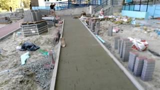 видео укладка тротуарной плитки киев