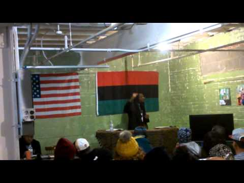 Ex Black Panther speaking on Afrikan culture